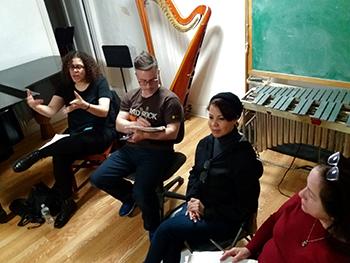 Guest Listener Doreen Younglove, Producer Phil Carroll, RAD Artist Katherine Dickson