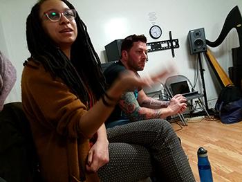 RAD Artists Briana Bradley and Fiore Barbini