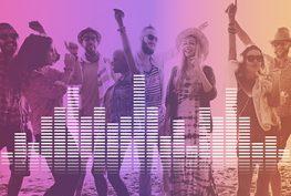 RAD Next Level Audio Digital Equalizer Music Tunes Sound Wave Graphic Concept